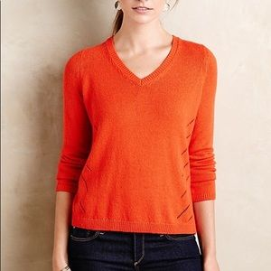 Anthropologie Moth Tie Back Pullover Sweater
